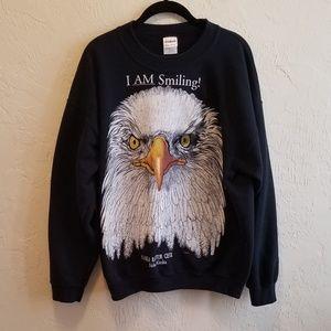 Vintage Eagle Biker Kitschy Sweatshirt L